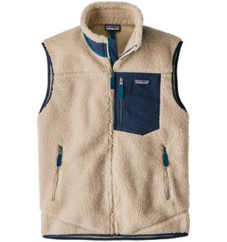 Patagonia Classic Retro-X Vest L Fleecevest, herre, Natural w/ Barn Red
