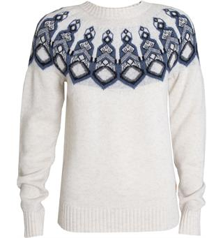 Tufte Rosenfink Pattern Sweater Genser, Dame