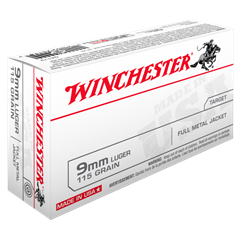 Winchester 9mm Luger 115gr USA FMJ