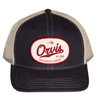 Orvis Steamside Label Cap One size - Marine/White