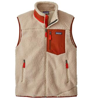 Patagonia Classic Retro-X Vest M Fleecevest, herre. Natural w/ Barn Red
