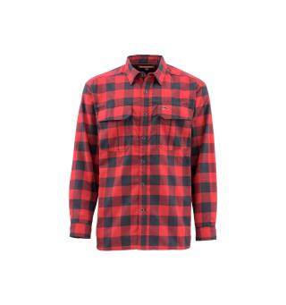 Simms ColdWeather Shirt S Red Buffalo Plaid