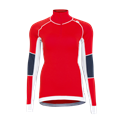 Tufte Bambull Half Zip L High Risk Red/Blueberry - dame