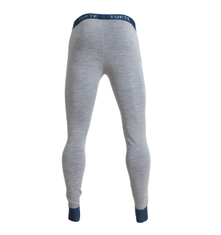 Tufte Bambull Long Johns Longs M Grey Melange/Gibraltar Sea - herre