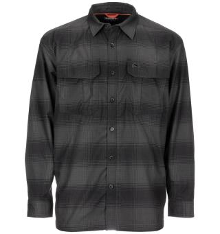 Simms ColdWeather Shirt XL Black Slate Plaid