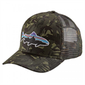 Patagonia Fitz Roy Trout Trucker Hat Big Camo: Fatigue
