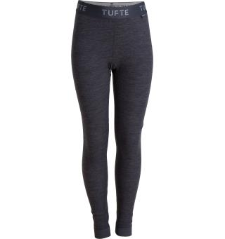 Tufte Bambull Jr. Long Johns 158/164 Dark Grey Melange/Forged Iron