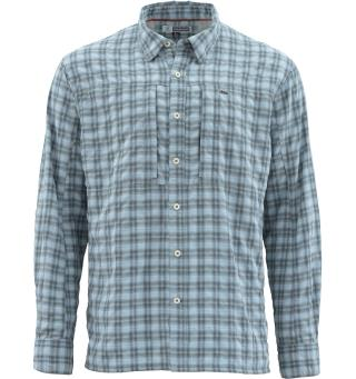 Simms BugStopper LS Shirt XXL Storm Plaid