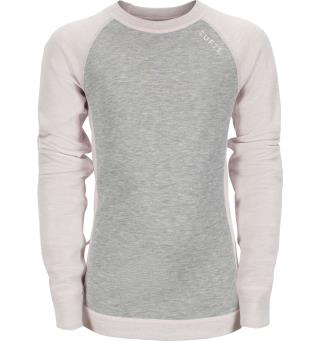 Tufte Kids Switch Crew Neck 110/116 Grey Melange/Potpurri