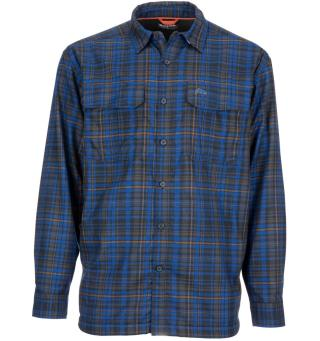 Simms ColdWeather Shirt L Rich Blue Admiral Plaid